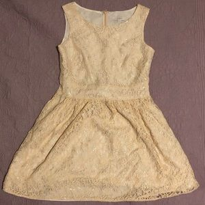 Cream Dress with Sparkles